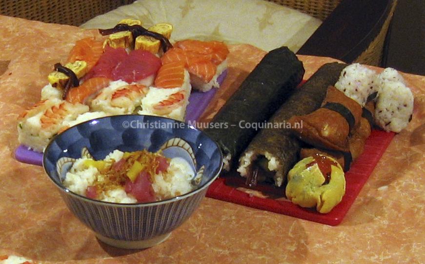 Het resultaat van een middagje sushi maken