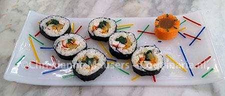 Gimbap, de Koreaanse versie van sushi
