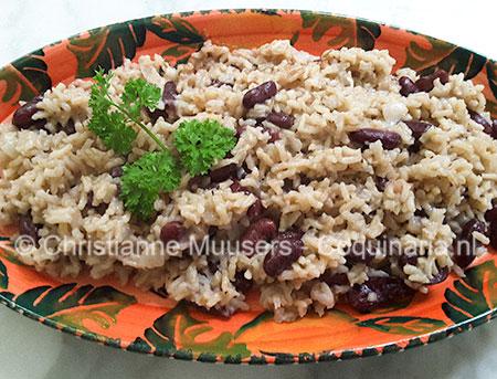 Rijst met bonen uit Jamaica