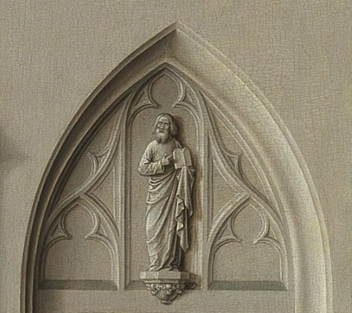Detail uit het Altaarstuk van het Heilig Sacrament (1458, of 1464-1467) van Dirk Bouts (bron: wikimedia).