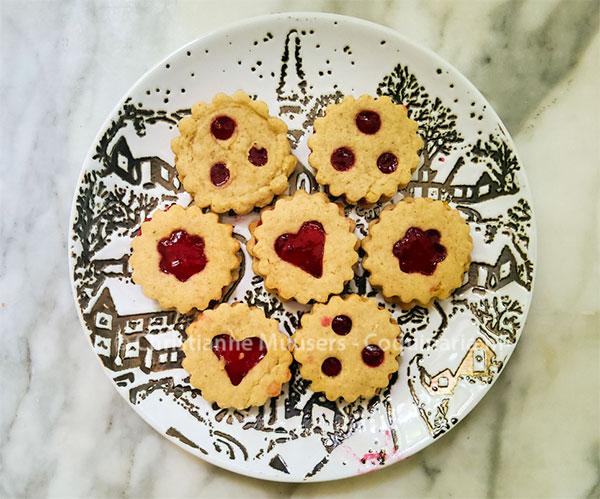 Linzer koekjes.